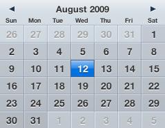 Calendar Aug 12